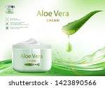 aloe vera skin care cream with... | Shutterstock .eps vector #1423890566
