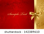 vector red and gold textured... | Shutterstock .eps vector #142389610