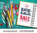 back to school sale vector... | Shutterstock .eps vector #1423904600