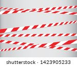 caution and danger tapes.... | Shutterstock .eps vector #1423905233