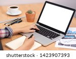 online learning course concept. ... | Shutterstock . vector #1423907393