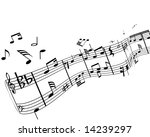 music background with different ... | Shutterstock .eps vector #14239297