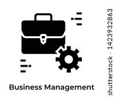 business management icon in... | Shutterstock .eps vector #1423932863