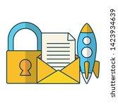 startup security newsletter... | Shutterstock .eps vector #1423934639