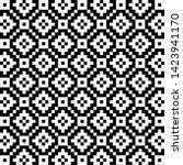 pixel jacquard nit pattern...   Shutterstock .eps vector #1423941170