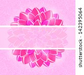 card with pink flower and... | Shutterstock .eps vector #142395064