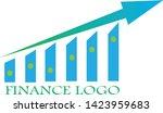 blue and green blend finance... | Shutterstock .eps vector #1423959683
