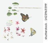 hand drawn vector background... | Shutterstock .eps vector #1423965599
