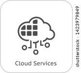 simple cloud services vector...