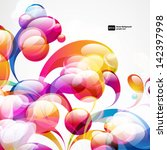 abstract colorful arc drop... | Shutterstock .eps vector #142397998