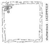 ashwagandha hand drawn border...   Shutterstock .eps vector #1423999319