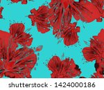 Bold Flower Pattern. Large...
