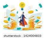 idea generation cartoon flat... | Shutterstock .eps vector #1424004833