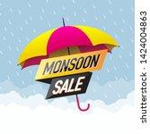 monsoon sale offer concept ...   Shutterstock .eps vector #1424004863