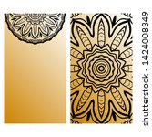 templates card with mandala... | Shutterstock .eps vector #1424008349