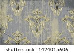 vintage ornament pattern vector.... | Shutterstock .eps vector #1424015606