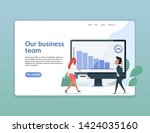 web page design templates of... | Shutterstock .eps vector #1424035160
