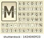 airport terminal mechanical... | Shutterstock .eps vector #1424040923