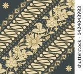 background batik of java...   Shutterstock .eps vector #1424043983