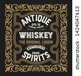 old whiskey label woth vintage... | Shutterstock .eps vector #1424047613