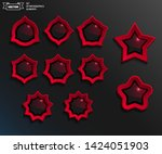 red sales stickers. set of...