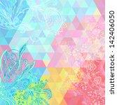 colorful rainbow triangular... | Shutterstock .eps vector #142406050