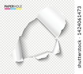 Blank Rip Paper Hole With...