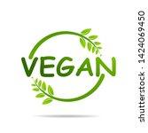 vegan product icon design...   Shutterstock .eps vector #1424069450