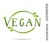 vegan product icon design...   Shutterstock .eps vector #1424069456