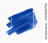 logo brush painted watercolor... | Shutterstock .eps vector #1424089706
