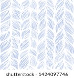 hand drawn wavy curly line... | Shutterstock . vector #1424097746