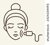 facial massage line icon.... | Shutterstock .eps vector #1424104493