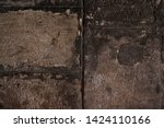 old brown concrete wall.... | Shutterstock . vector #1424110166