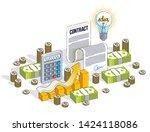 financial contract concept ... | Shutterstock .eps vector #1424118086