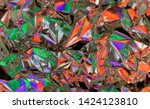 rainbow colored abstract... | Shutterstock . vector #1424123810
