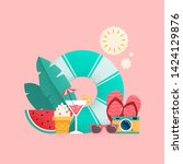 summer time colorful banner... | Shutterstock .eps vector #1424129876