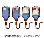 collection of iv bag   vector... | Shutterstock .eps vector #142413490