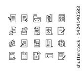 simple set of legal documents... | Shutterstock .eps vector #1424140583