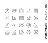 simple set of data analysis... | Shutterstock .eps vector #1424140589