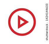 play button vector icon. video... | Shutterstock .eps vector #1424144633