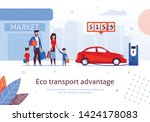 eco transport advantage.... | Shutterstock .eps vector #1424178083