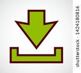 download arrow. vector color... | Shutterstock .eps vector #1424180816