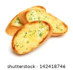garlic and herb bread slices | Shutterstock . vector #142418746