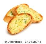 garlic and herb bread slices | Shutterstock . vector #142418746