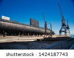 abandoned docks in perth ... | Shutterstock . vector #1424187743