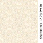 seamless decorative ornament on ...   Shutterstock .eps vector #1424189660