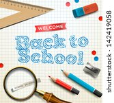 welcome back to school  vector... | Shutterstock .eps vector #142419058
