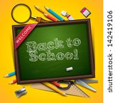welcome back to school  vector... | Shutterstock .eps vector #142419106