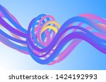 wavy liquid colorful background ...   Shutterstock .eps vector #1424192993