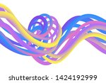 wavy liquid colorful background ...   Shutterstock .eps vector #1424192999
